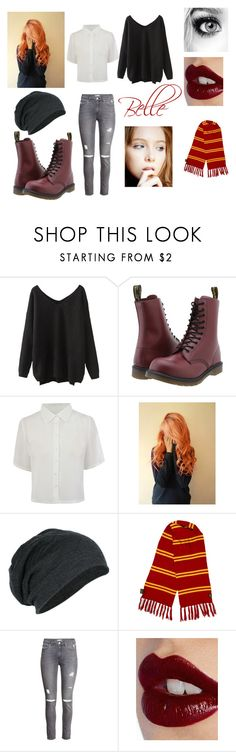 """""""Belle - Love Confessions"""" by skyexxxx ❤ liked on Polyvore featuring Dr. Martens, H&M and Charlotte Tilbury"""