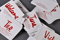 Refreshingly casual professional business cards.