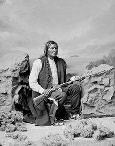 Portrait of Arapaho chief Friday, by Charles Milton Bell, 1873