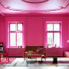 Pink, Block Colour, Interior