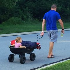 Neighbor hitched a wagon ride with Jason Domestic Infant Adoption, Baby Strollers, Parenting, Children, Boys, Kids, Raising Kids, Sons, Childcare