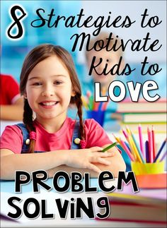 I would use this to motivate kids to problem solve Here are 8 strategies that helped my students feel more comfortable with problem solving. These techniques thawed their attitudes towards math and motivated them to actually enjoy problem solving! Love Problems, Math Word Problems, Teaching Strategies, Teaching Math, Teaching Ideas, Teaching Methodology, Teaching Tools, Math Resources, Math Activities