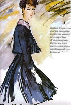 Illustration - for Vogue magazineby Rene Bouche, 1960