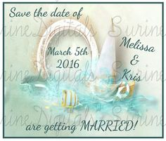 Nautical Themed Save The Date/ Beach Themed save the date/ Ocean themed Save the…