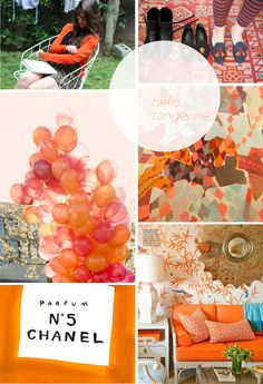 Pantone Color of the year - Tangerine Tango! this is from Debbie Jensen's board. What a great color-upbeat!!!