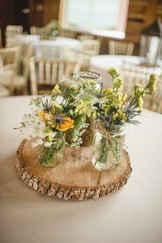 Decoración para una boda al aire libre, estilo rústico | La Boda de María