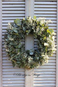 wreath eucalyptus babysbreath