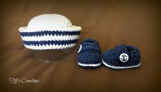 Free+Crochet+Baby+Sailor+Hat+Pattern ༺✿ƬⱤღ✿༻