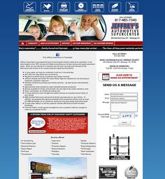 Jeffrey's Automotive website (Fort Worth, Watauga, Keller, North Richland Hills area) - Designed by The Marketing Twins North Richland Hills, The Marketing, Fort Worth, Page Design, Twins, Facebook, Website, Reading, Gemini