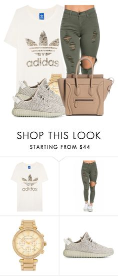 """EVERY TIME I TRY AND FOCUS ON YOU DUMB NIGGÃS, you show me why im better off single lol."" by dopeeswag ❤ liked on Polyvore featuring adidas Originals and Michael Kors"