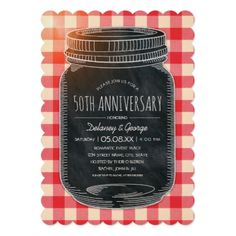 Vintage Rustic 50th Wedding Anniversary Picnic Card - anniversary gifts ideas diy celebration cyo unique
