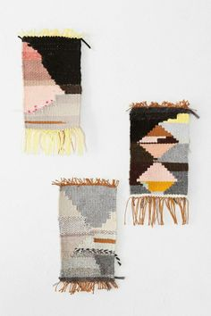 Anna Slezak One-Of-A-Kind Handmade Wall Weaving