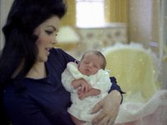 Priscilla and Lisa Marie in the nursery at Graceland