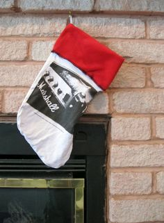 SALE Marshall Amps Christmas Stocking DIY Guitar Xmas #3 by JingleHell on Etsy