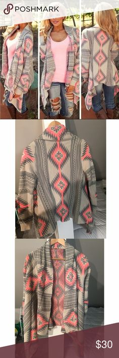 """""""Dreamers"""" pink and grey cardigan Brand new , never worn Sweaters Cardigans"""
