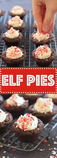 Chewy bite-sized brownies topped with a light, fluffy frosting and crushed candy cane. Designed for Santa's elves, but well-loved by all!