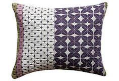 One Kings Lane - Dynamic Designs - Clee 17x14 Pillow, Purple