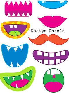 SINGING TIME IDEA: could use these for singing time. Neat Little Nest: Monster Mouth printable for photo booths!