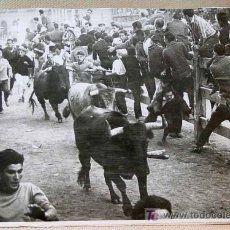 ANTIGUA FOTOGRAFIA, FOTO, ENCIERRO DE TUDELA ?, 1960s TOROS