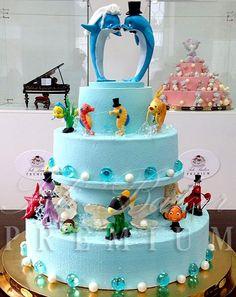 """Торт """"Дельфины"""" - фото Fili Baker Premium"""