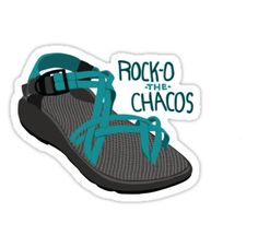 'Rock-O The Chacos' Sticker by haleyschrauf Preppy Stickers, Cute Laptop Stickers, Meme Stickers, Tumblr Stickers, Phone Stickers, Cool Stickers, Homemade Stickers, Laptops For Sale, Aesthetic Stickers