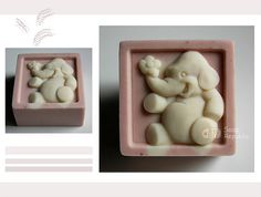 / Elephant Silicone Soap Mold Size * 2 * 1 (CP) OR Size x x (H) cm (CP) ==================================================== Photo 1 : finished CP soaps made with the Silicone Soap Molds Photo 2 : the silicone mold The Soap Molds, Silicone Molds, Soap Making Recipes, 3d Design, Food Grade, Soaps, Elephant, Baby Shower, Handmade Gifts