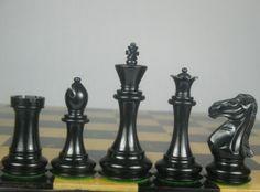 New Weighted Staunton Chess Set Ebony Wood Piece 4Q. http://www.chessbazaar.com/chess-pieces/wooden-chess-pieces/new-weighted-staunton-chess-set-ebony-wood-piece-4q.html