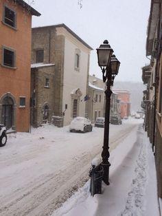 #Amatrice #Rieti - Italy Il borgo tra la neve del 31/12/2014 Ph #Andy0872