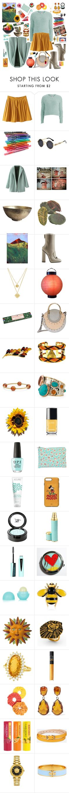 """Craving Sunny Days and Sunflowers"" by kayce35 ❤ liked on Polyvore featuring Vero Moda, HI-TEC, WALL, Sur La Table, Gucci, Luv Aj, Mambo, Chloé, Be-Jewelled and Forest of Chintz"
