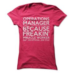 Operations Manager Job Title