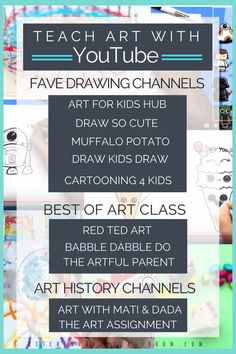 Online Art Classes for Kids- Totally Free Resources to Use Anywhere – The Kitchen Table Classroom - Illustration and Art Education Online Art Classes, Art Lessons Online, Online Art School, Art Curriculum, Preschool Curriculum Free, Kindergarten Art, Middle School Art, High School, Public School