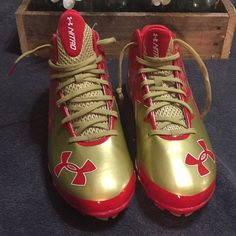 4818c35e4f42 Nwt Under Armour Nitro Clutch Fit Football Cleats | Color: Gold/Red | Size
