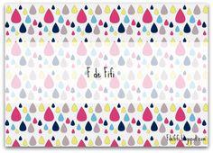 Imprimible papel motivo gotas de agua