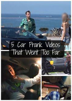 5 Car Prank Videos That Went Too Far! What do you think? Click to decide! #spon #video #prank