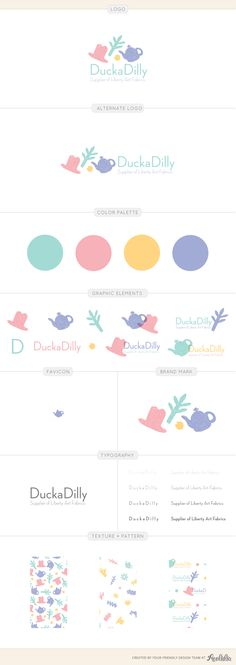 Duckadilly branding guide design by Aeolidia