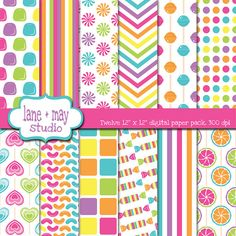 Log in to your Etsy account. Ikat Pattern, Pattern Art, Candy Land Theme, Blog Wallpaper, Rainbow Candy, Digital Scrapbook Paper, Unicorn Print, Candyland, Paper Design