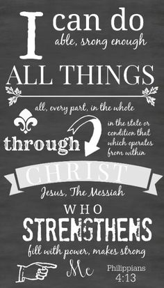 PHILIPPIANS 4:13 CHALKBOARD PRINTABLE... a very encouraging scripture