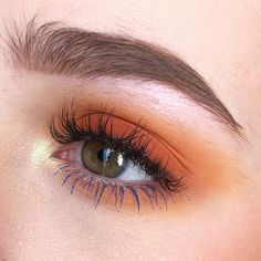 Burnt orange and blue today + a little vid of it i. Burnt Orange Eyeshadow, Blue Eyeshadow Looks, Red Eyeshadow, Smokey Eye Makeup, Burnt Orange Hair, Simple Eyeshadow, Eyeshadow Palette, Makeup Inspo, Beauty Makeup