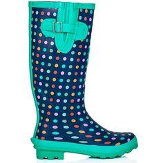 AmazonSmile: Spylovebuy Women's WF - Funky Flat Wellie Wellington Festival Rain Boots - Assorted Colours: Shoes