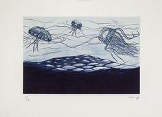 SIN TÍTULO 5 Autor: Mar Gasca Técnica:Mezzotinta, cera suave, aguatinta y xilografía Tamaño: 32 x 42 cm (papel) Año:2014