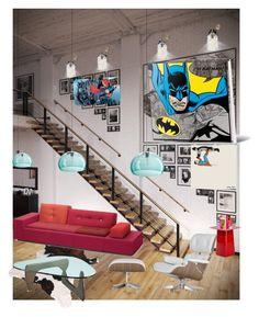 """Superman vs Batman"" by bogdan-chiuzbaian ❤ liked on Polyvore featuring interior, interiors, interior design, home, home decor, interior decorating, Traits, Vitra and Kartell"
