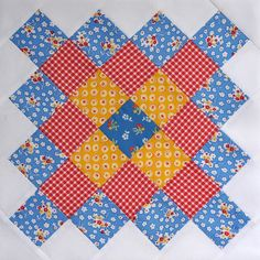 Blue Great Granny Block by bitty bits & pieces