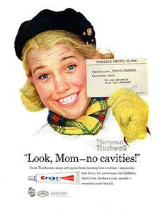 cavities- Norman Rockwell Look, Mom--no cavities! by Norman RockwellLook, Mom--no cavities! by Norman Rockwell Peintures Norman Rockwell, Norman Rockwell Art, Norman Rockwell Paintings, Retro Ads, Vintage Advertisements, Vintage Ads, Vintage Posters, Retro Advertising, Advertising Campaign