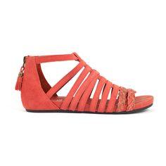 Fab.com   Alba Open Sandals Poppy Red