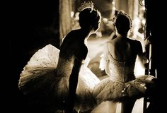 English National Ballet dancers watching from the wings by Patrick Baldwin