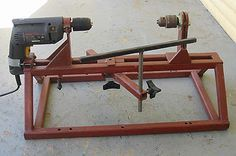 Wood Lathe - I've got an old cordless drill motor that may work for this!