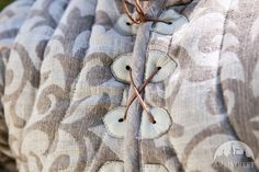 Exclusive patterned linen gambeson