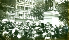 Queen Victoria Statue Dedicated – 1908 It was a major occasion, witnessed by thousands – the first statue in the British Empire dedicated to the memory of Queen Victoria. Hamilton Ontario Canada, Queen Victoria, Vintage Photos, Empire, British, Memories, Statue, Pictures, Gotha