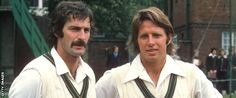 Australia fast bowlers Dennis Lillee and Jeff Thomson