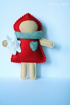 Jasna With Barnim by made by agah, via Flickr - felt inspiration